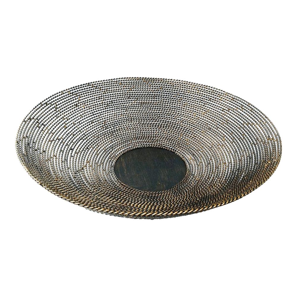 Fruteira de mesa em ferro- Trançado