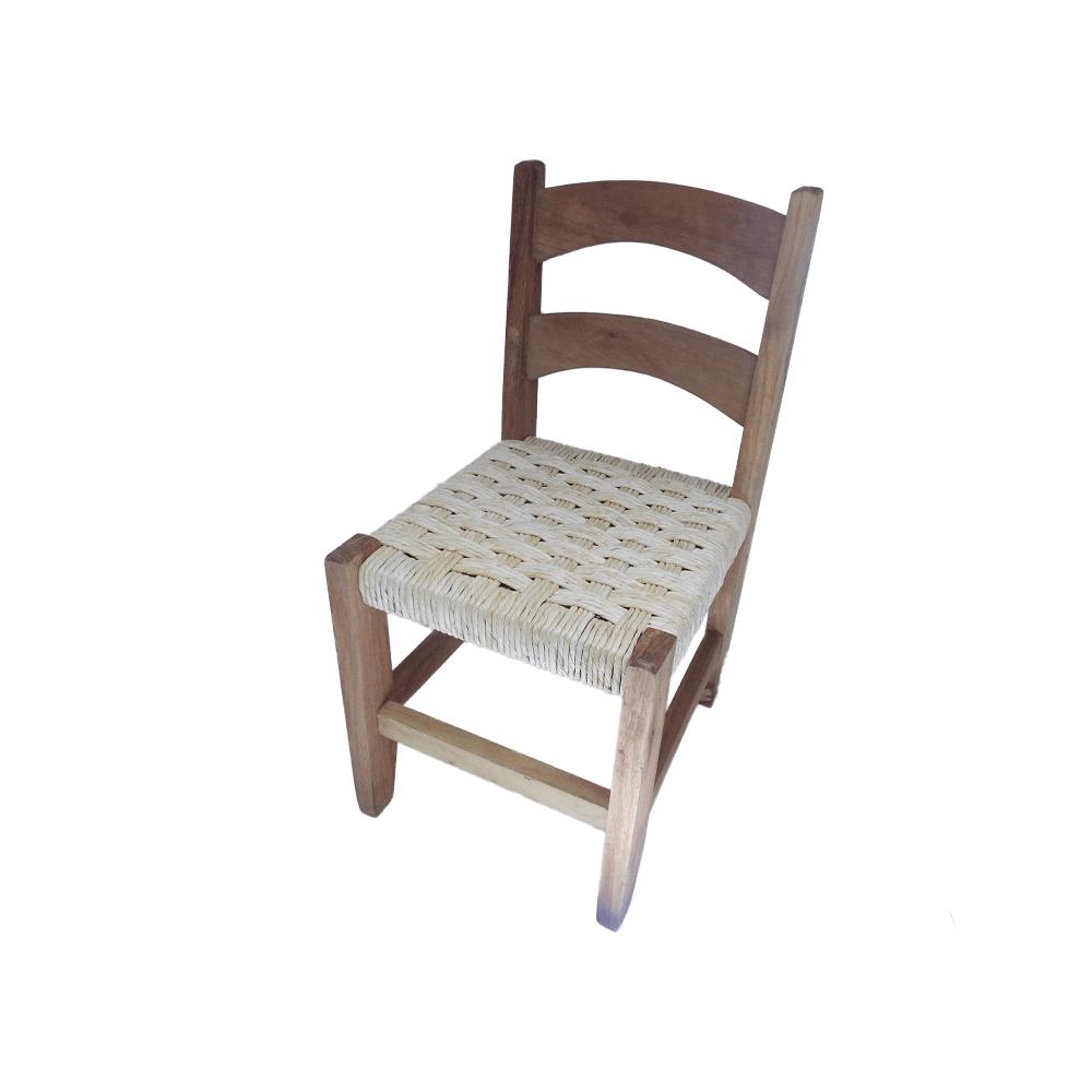 Cadeira Infantil em Trama de Palha Taboa